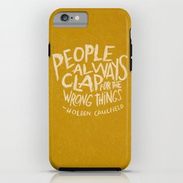 HOLDEN CAULFIELD ON APPLAUSE iPhone Case