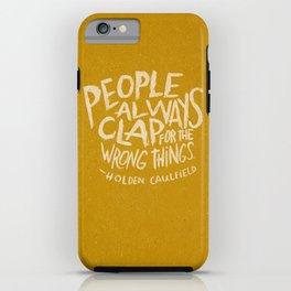 HOLDEN CAULFIELD ON APPLAUSE iPhone Case