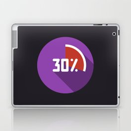 "Illustration ""percentage - 30%"" with long shadow in new modern flat design Laptop & iPad Skin"