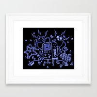 bmo Framed Art Prints featuring BMO by Daniel Delgado