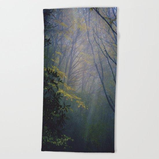 In the fog  Beach Towel