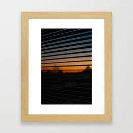 Sunset Patterns Framed Art Print