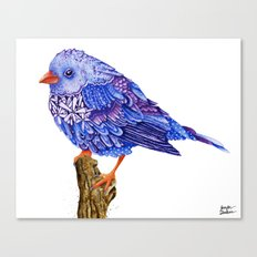Flowerly Serene Sophia. Purple Edition Canvas Print