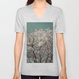 Snow Blossom Unisex V-Neck