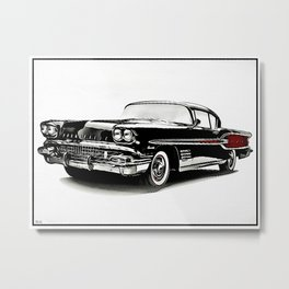 Custom Pontiac Bonneville Metal Print
