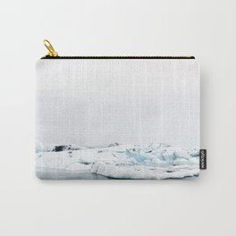 Beautiful glacier lagoon winter Carry-All Pouch