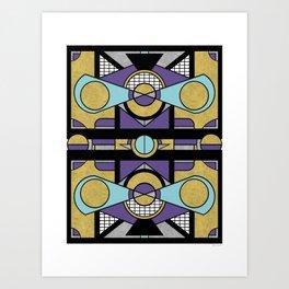 Art Deco Set Piece - Geometric Abstract Design Art Print