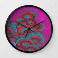 dr seuss Wall Clocks featuring Dr. Seuss 5 by Sarah J Bierman