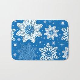 Snowflake pattern Bath Mat