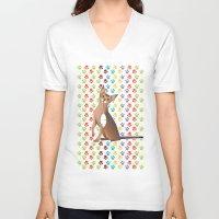 predator V-neck T-shirts featuring Predator by Vannina