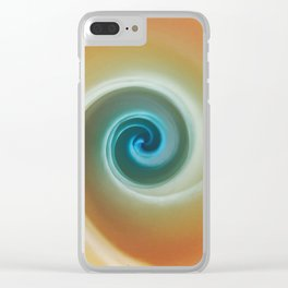 Two-tone Swirl Clear iPhone Case