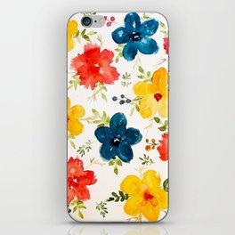 Warm flowers iPhone Skin