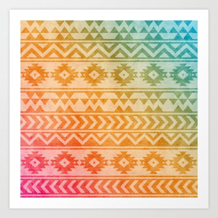 Aztec Pattern 02 Art Print