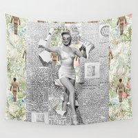 newspaper Wall Tapestries featuring Welcome to My Store by mentalembellisher