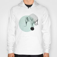 elephant Hoodies featuring elephant by morgan kendall