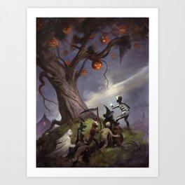 The Halloween Tree Art Print