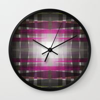 rug Wall Clocks featuring Rug II by SensualPatterns