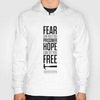 stephen king Hoodies featuring Lab No. 4 - Hope Inspirational Quote by Stephen King Inspirational Quotes by Lab No. 4