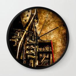 Vintage Steam Engine Locomotive - Commanding Heights Wall Clock