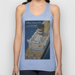 Vintage poster - Cruise ship Unisex Tank Top