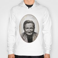 robin williams Hoodies featuring Robin williams by MK-illustration