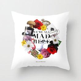 Alice In Wonderland: MAD Throw Pillow