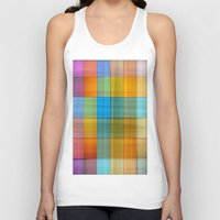 fabric Tank Tops featuring Fabric by RingWaveArt