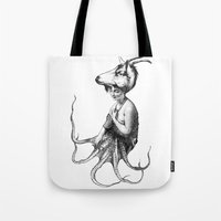 capricorn Tote Bags featuring capricorn by Carolina Espinosa