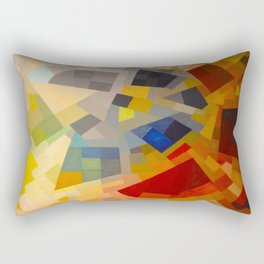 Otto Freundlich Komposition 1939 Mid Century Modern Abstract Colorful Geometric Painting Pattern Art Rectangular Pillow