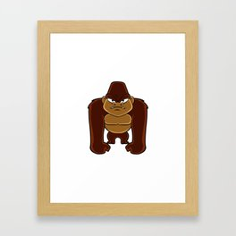 geometric gorilla Framed Art Print