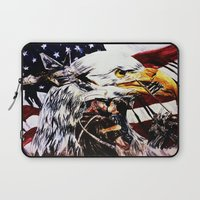 patriotic Laptop Sleeves featuring PATRIOTIC TIMES by PERRY DAEZIOUH