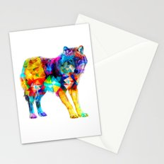 Wolf of Triangles Stationery Cards