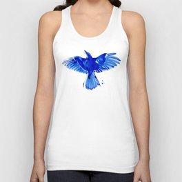 Blue bird wings Unisex Tank Top