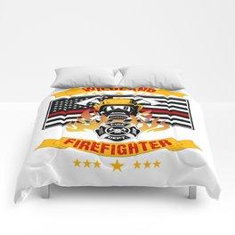 Wildland Firefighter Hero Thin Red Line Smokejumper Gift Comforters