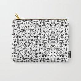 Bird & Flower Pattern Carry-All Pouch