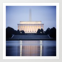 washington dc Art Prints featuring Washington DC by Ben Klaus Design and Photography