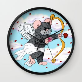 Cupid Hamster Wall Clock