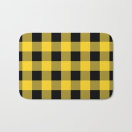 Yellow Buffalo Check Bath Mat