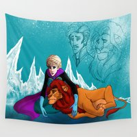 simba Wall Tapestries featuring you can't change the past  by lulu555