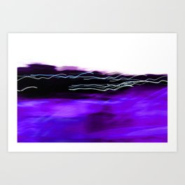 Purple Harbour Lights Art Print