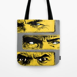 Gun Fight Threesome Tote Bag