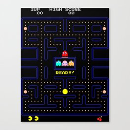 Pac Man Canvas Print