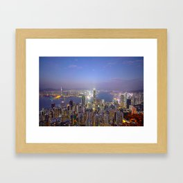 Beautiful Hong Kong Harbour View Framed Art Print