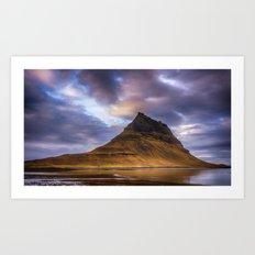 Church Mountain Iceland Art Print