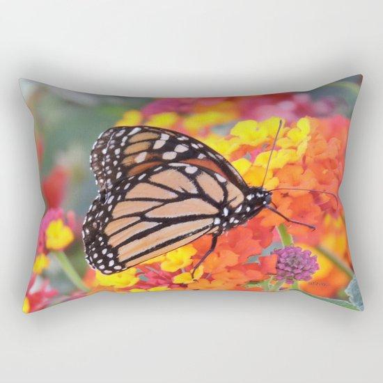 Monarch Feeding on Lantana Rectangular Pillow