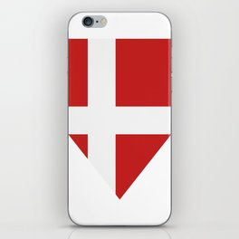 Denmark flag iPhone Skin