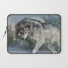 Wolf in the snow Laptop Sleeve