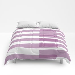 Big Stripes in Purple Comforters