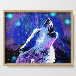 WOLF MOON AND SHOOTING STARS Serving Tray