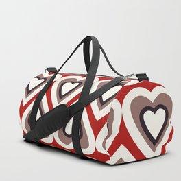 Strawberry and Chocolate Cream Love Hearts Duffle Bag